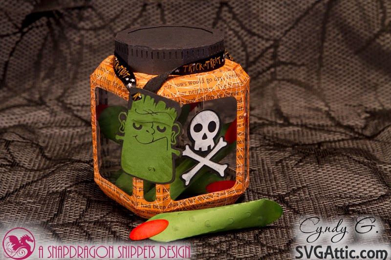 3d Halloween jar with witches fingers inside