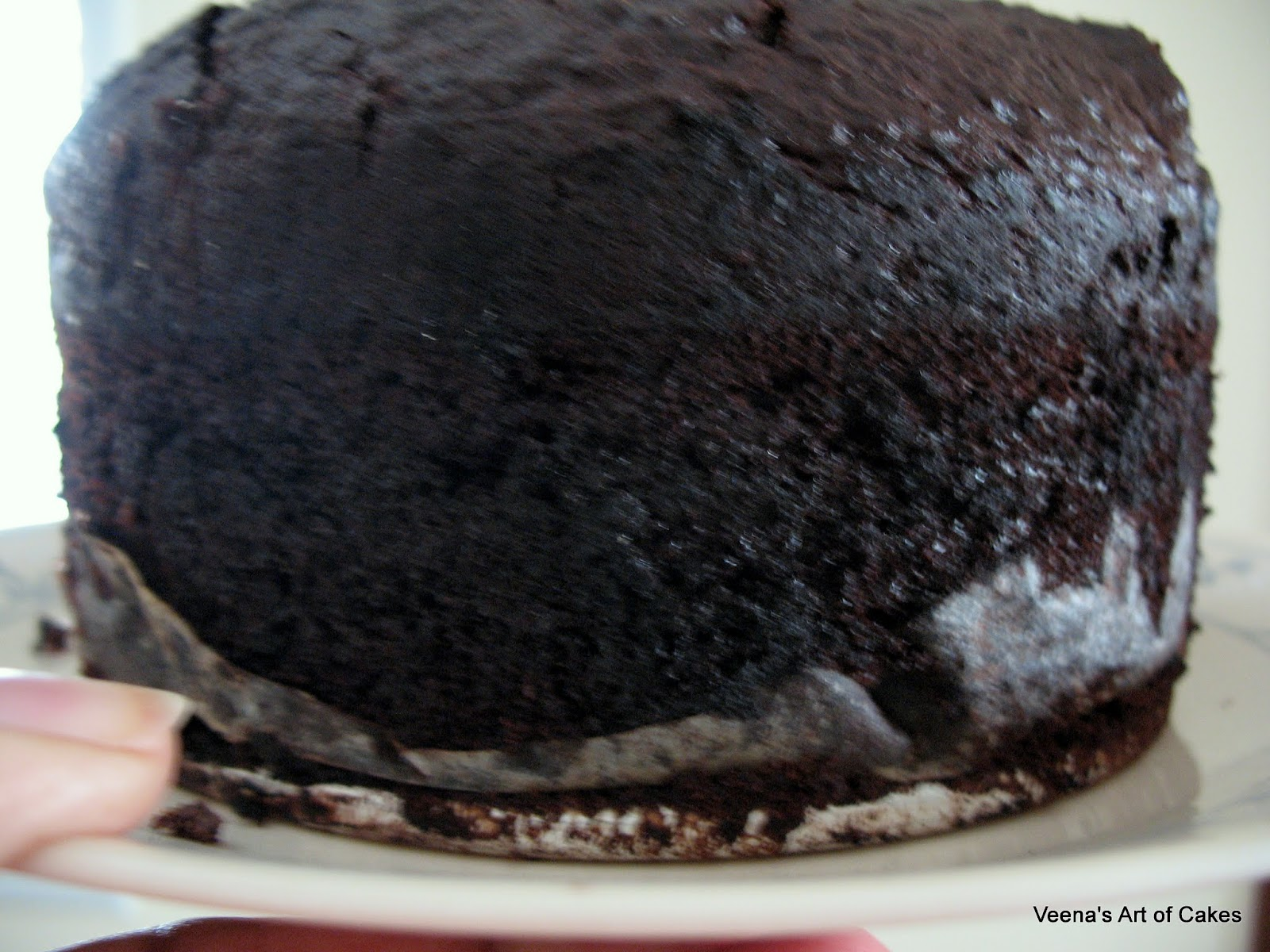 Simple yet moist chocolate cake - Veena's Art of Cakes