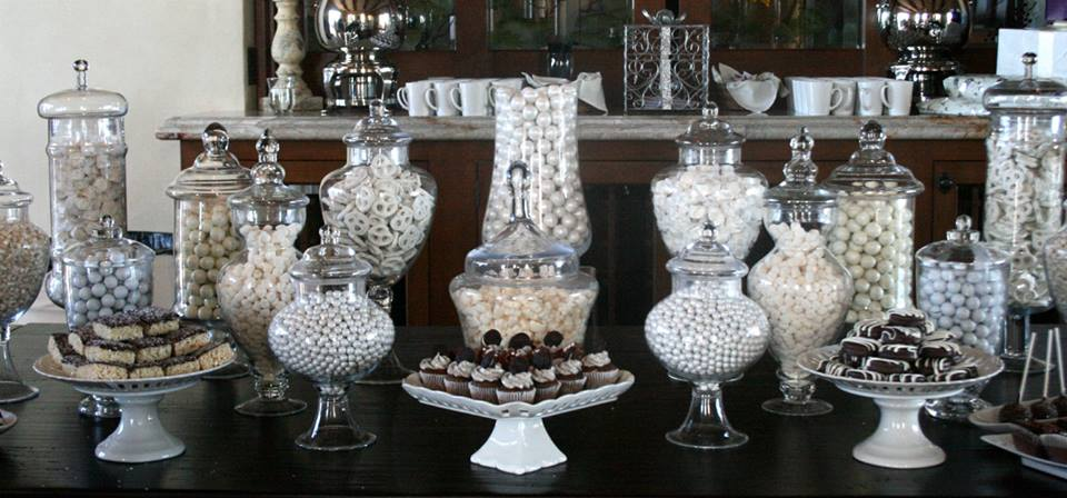 It S A Nice Day For White Wedding Candy Dessert Buffet Station Malibu