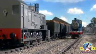 Help o help Dennis the diesel engine saw steam train Thomas diesel Dennis the train had a lazy idea