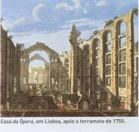 Opera de Lisbonne après le tremblement de terre