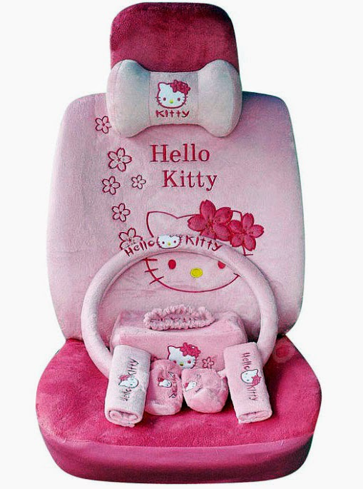 pink seat covers Hello Kitty IMAGE