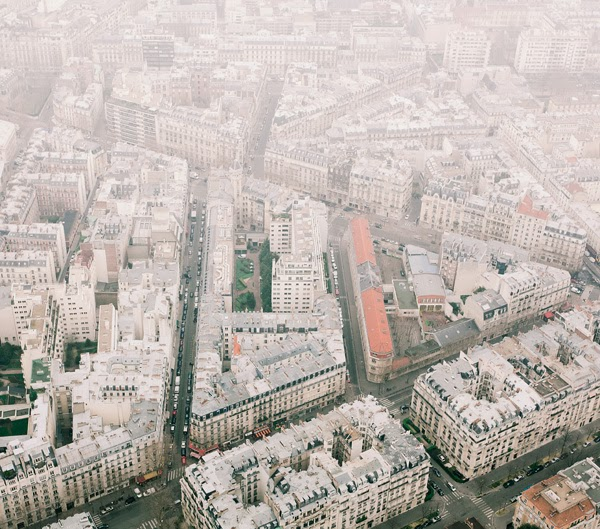 Paris Aerial Photography by Johannes Heuckeroth