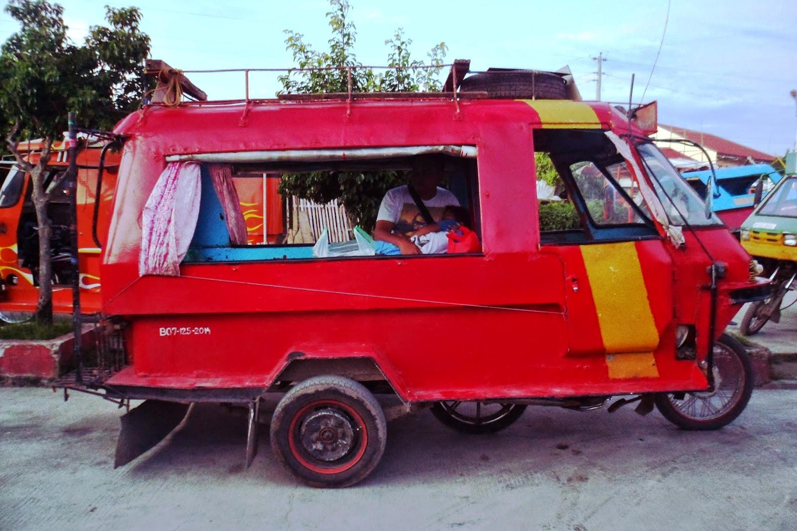 jeepney in Bantayan Island in Cebu
