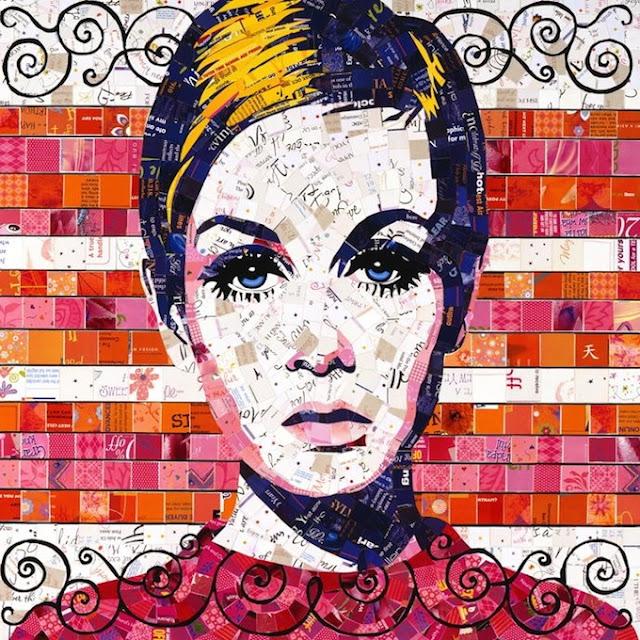 SandhiSchimmelGold0 Junk Mail Mosaics   Sandhi Schimmel Gold