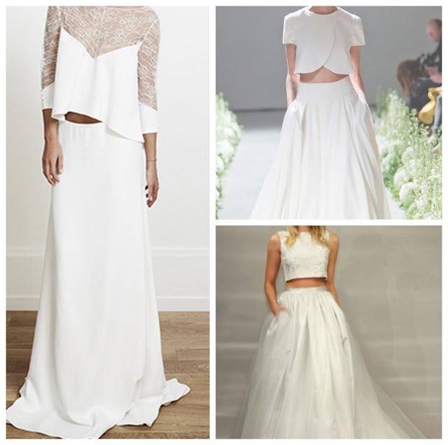 Divinos vestidos de novias   Colección en Dos Piezas