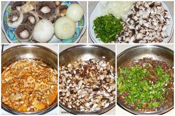 retete si preparate culinare umplutura de ciuperci cu ceapa si patrunjel verde, retete cu ciuperci, preparate din ciuperci, retete de mancare, retete culinare,