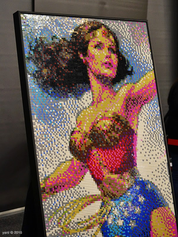 brick-a-laide wonder woman portrait