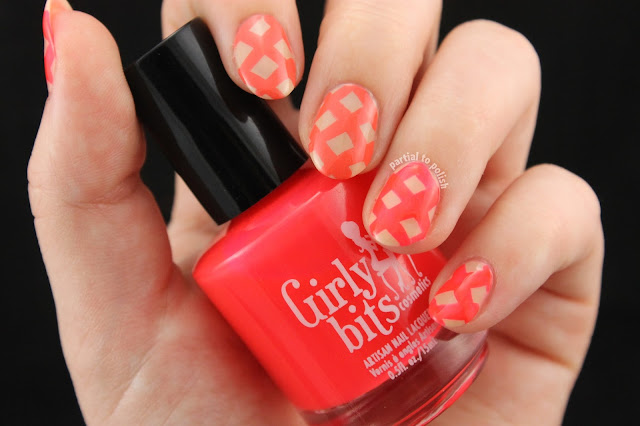 Coral and Orange Lattice Featuring Girly Bits Hoop! There It Is