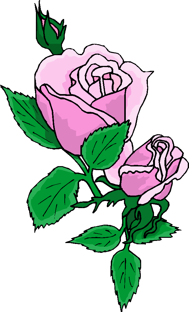 Purple Rose Flower Clipart