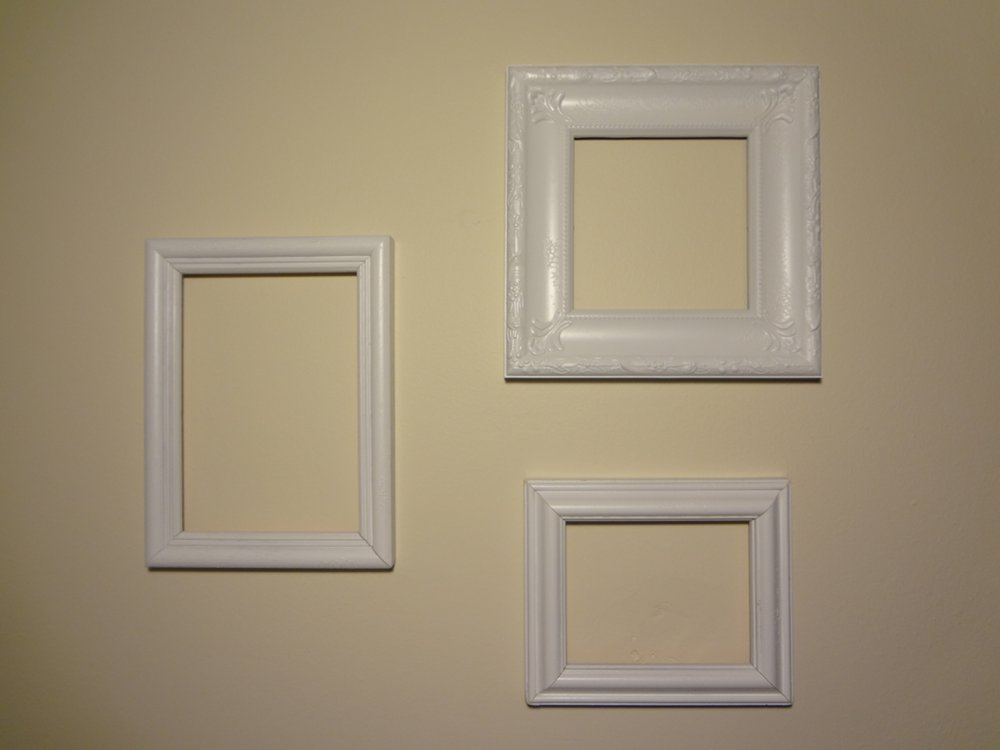 Aka bailey pinterest challenge empty frames as wall art for What to do with empty picture frames