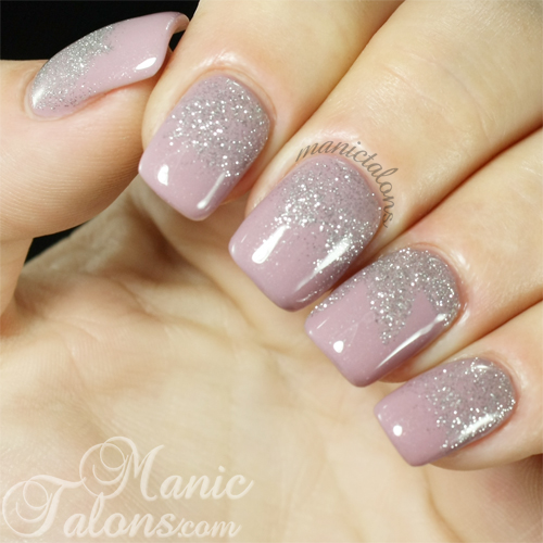 Pink Gellac Naked with Fabulous Silver Fade