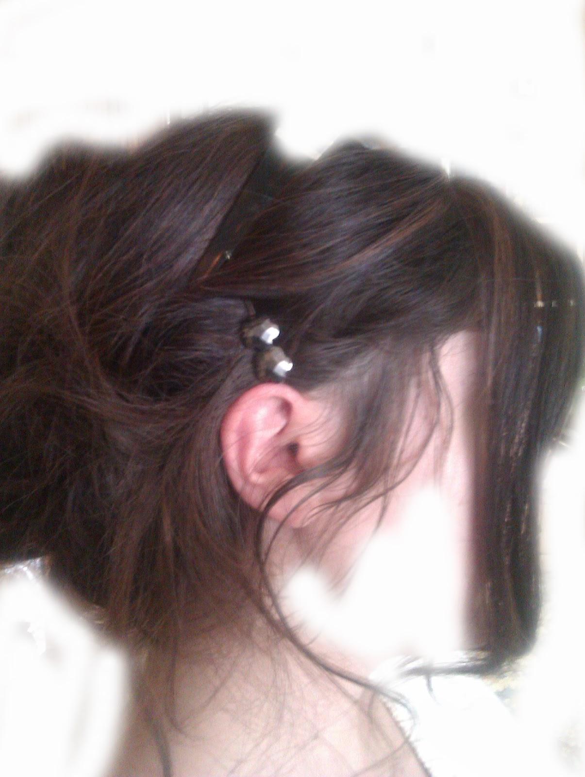La caída del pedazo de los cabello a las mujeres
