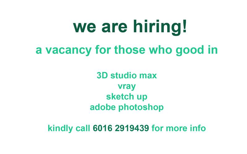 3D visualizer vacancy