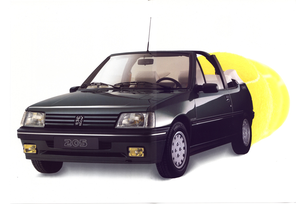 peugeot 205 roland garros cabriolet 1992 brochure cat logo francaise. Black Bedroom Furniture Sets. Home Design Ideas