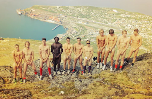 Norwegian club Mjølner take naked team photo