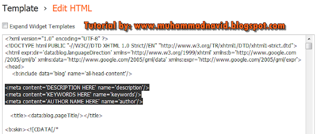 how to write meta tags