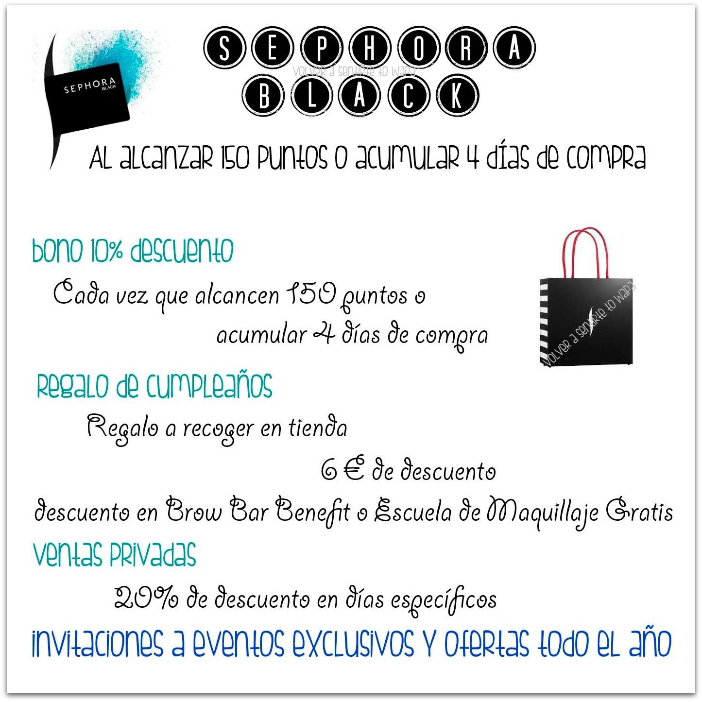 Tarjeta Sephora Black - Beneficios y Ventajas
