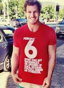 David Pocock, troisième ligne aile de l'équipe nationale australienne de rugby. © Amnesty International