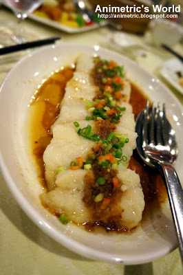Steamed Fish Fillet with Garlic Sauce at Passion Restaurant in Maxims Hotel, Resorts World Manila