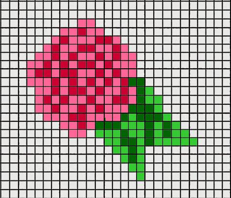 Flower Intarsia Chart Left Hand