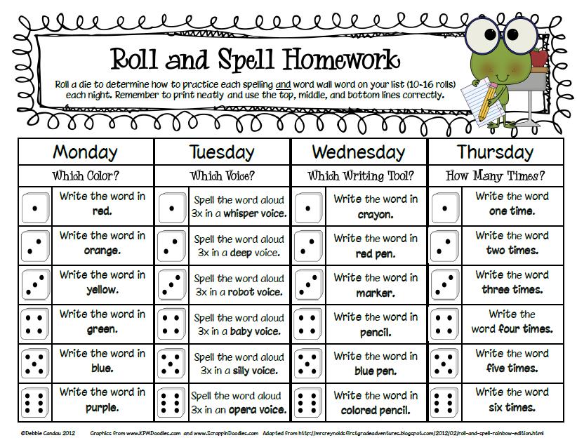 homework for 1st graders