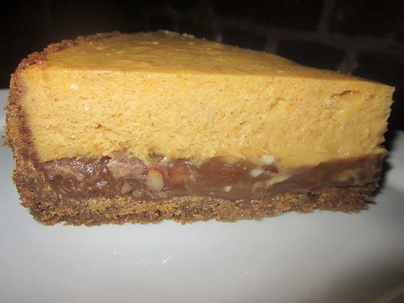 Pumpkin Cheesecake With Gingersnap & Pecan Crust Recipe ...
