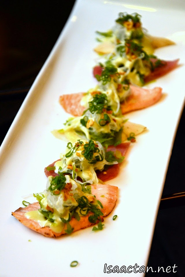 #7 Sashimi Carparcio Aburi (Seared Fish Carpaccio Style) - RM48