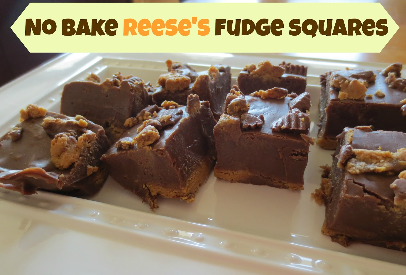 All She Needs to Know: No Bake Reese's Fudge Squares