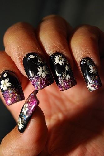 japanese nail art designs with black nail polish