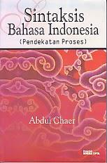 toko buku rahma: buku SISNTAKSIS BAHASA INDONESIA, pengarang abdul chaer, penerbit rineka cipta