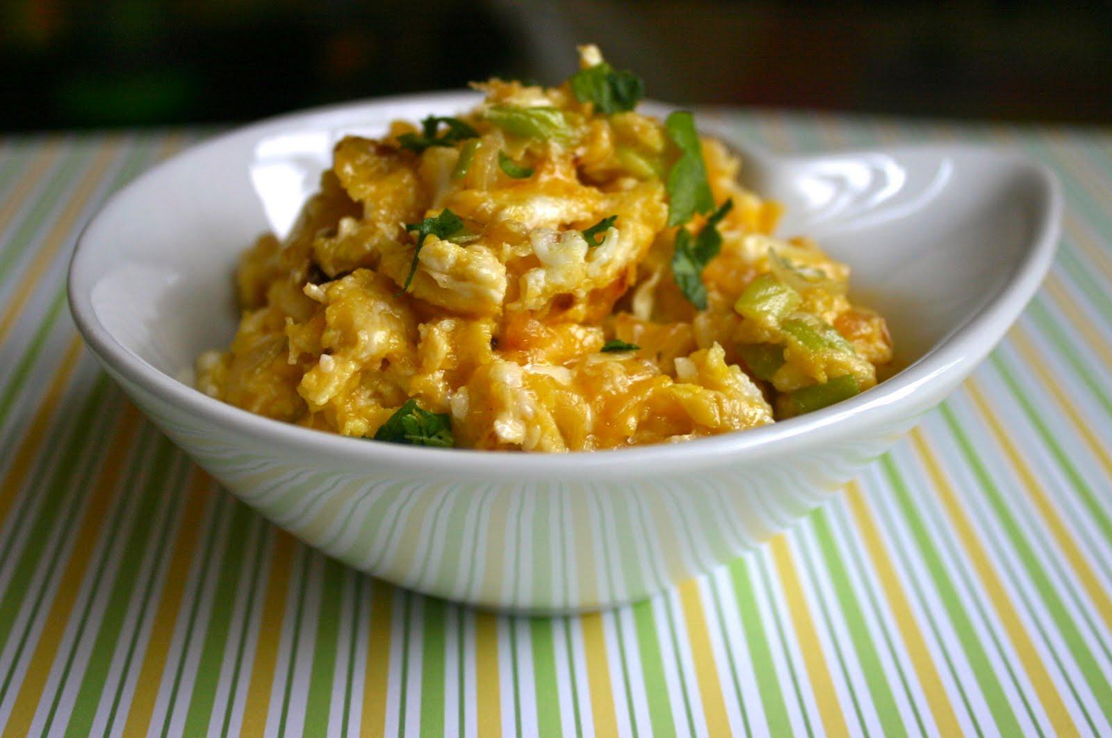 Scrambled Eggs & Caramelized Onions Recipe — Dishmaps