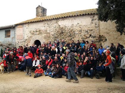 El grup participant a la caminada de Les Tres Ermites 2012
