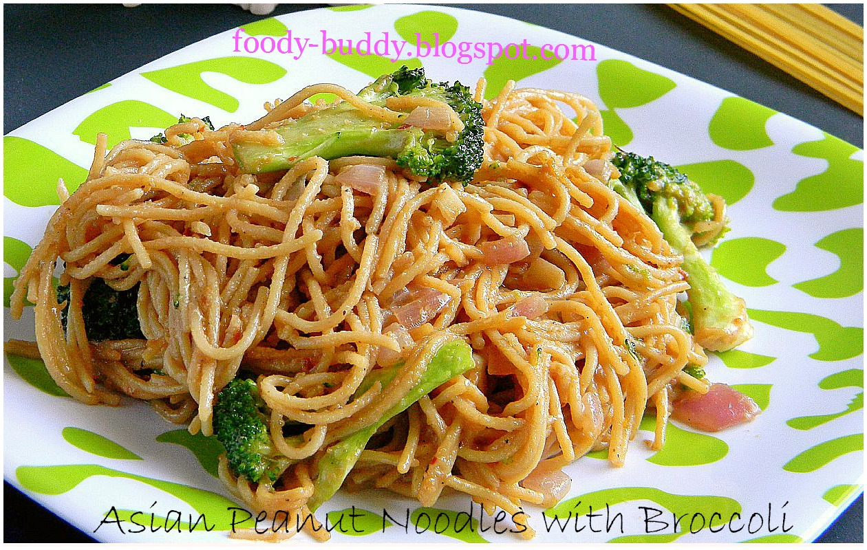 Foody - Buddy: Asian Peanut noodles with Broccoli