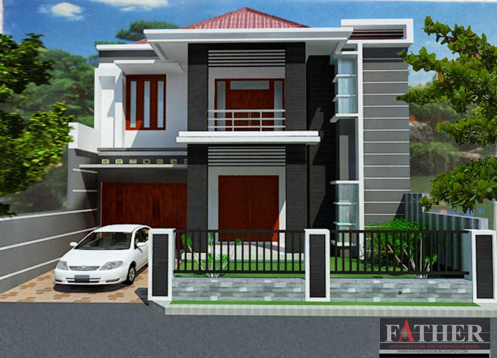 Desain Rumah Minimalis 2 Lantai Type 80