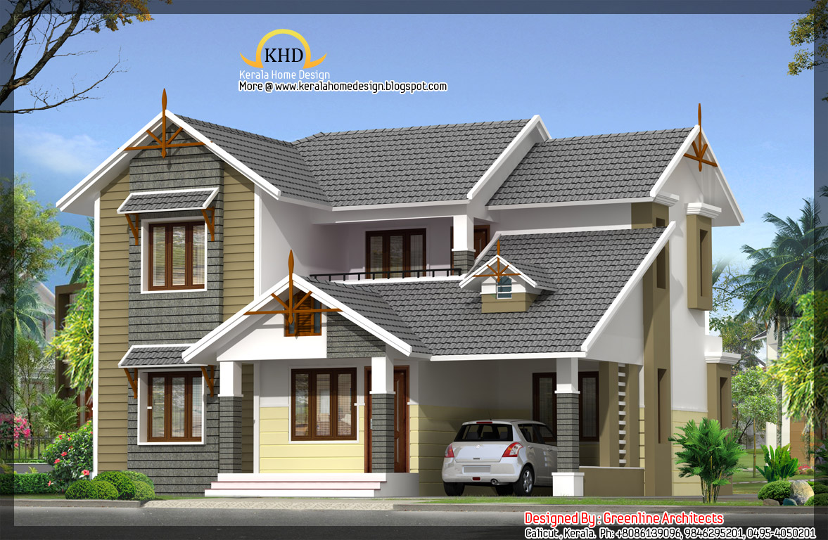 House Elevation - 1768 sq. ft. - Kerala home design and floor plans