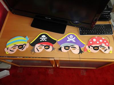 Yellow Moon Pirate Masks