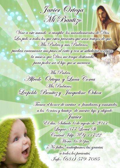 Textos para invitaciones de bautizo y cumpleaños - Imagui