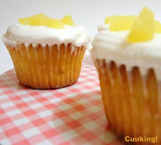 Cupcakes de piña