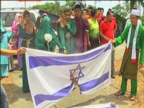 Pijak bendera Isreal Pengantin Malaysia jadi bualan hangat di Israel