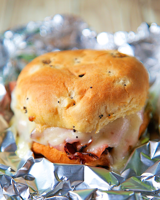 Hot Ham And Cheese Butter Dijon Skillet Sandwiches Recipe — Dishmaps