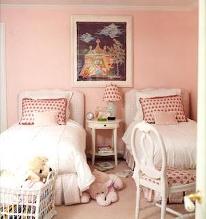 cuarto rosa para dos niñas
