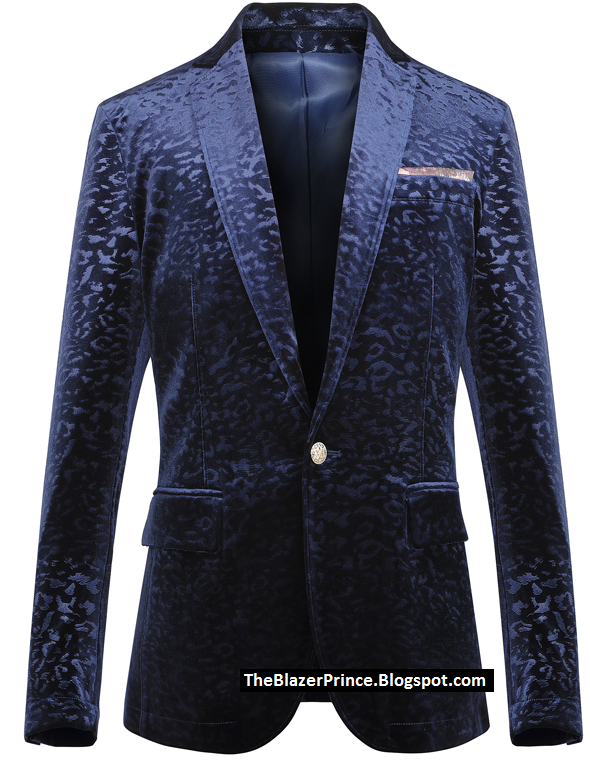 New Hipster's Luxury Navy Blue Velvet Fancy Blazer