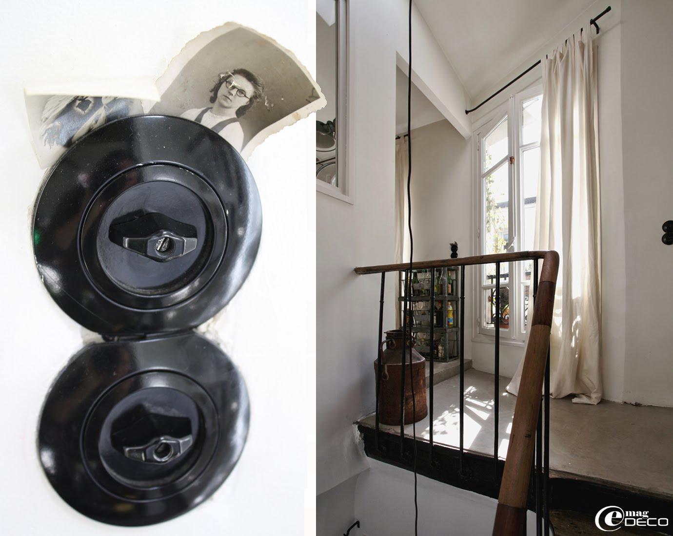 Interrupteurs en bakélite réédités par Berker et reproduisant le style fonctionnel du Bauhaus