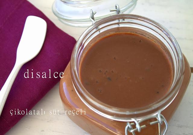 bitter çikolatalı süt reçeli
