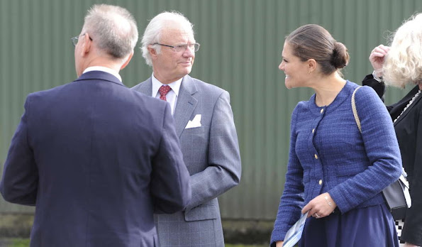 King Carl Gustav of Sweden and Crown Princess Victoria of Sweden visited Swedish Migration Board in Restad farm in Vanersborg Uddevalla