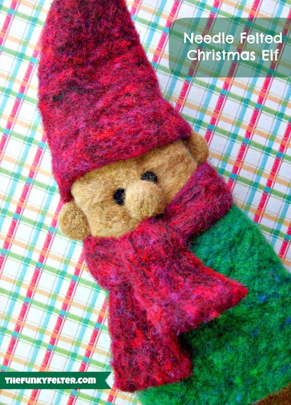Needle Felted Christmas Elf Craft Tutorial by The Funky Felter