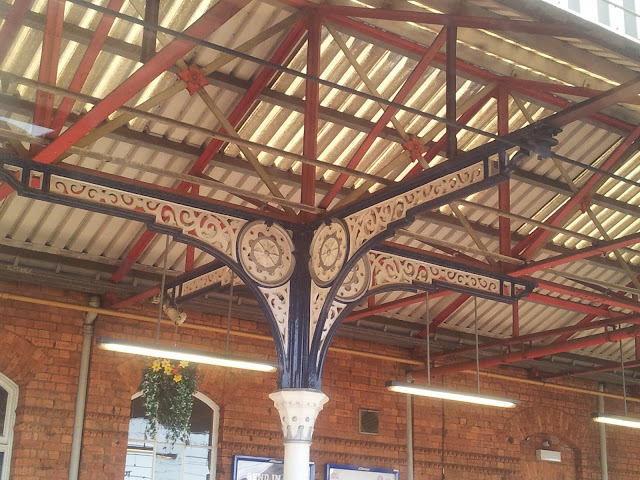 Pretty iron work at a train station in Yorkshire