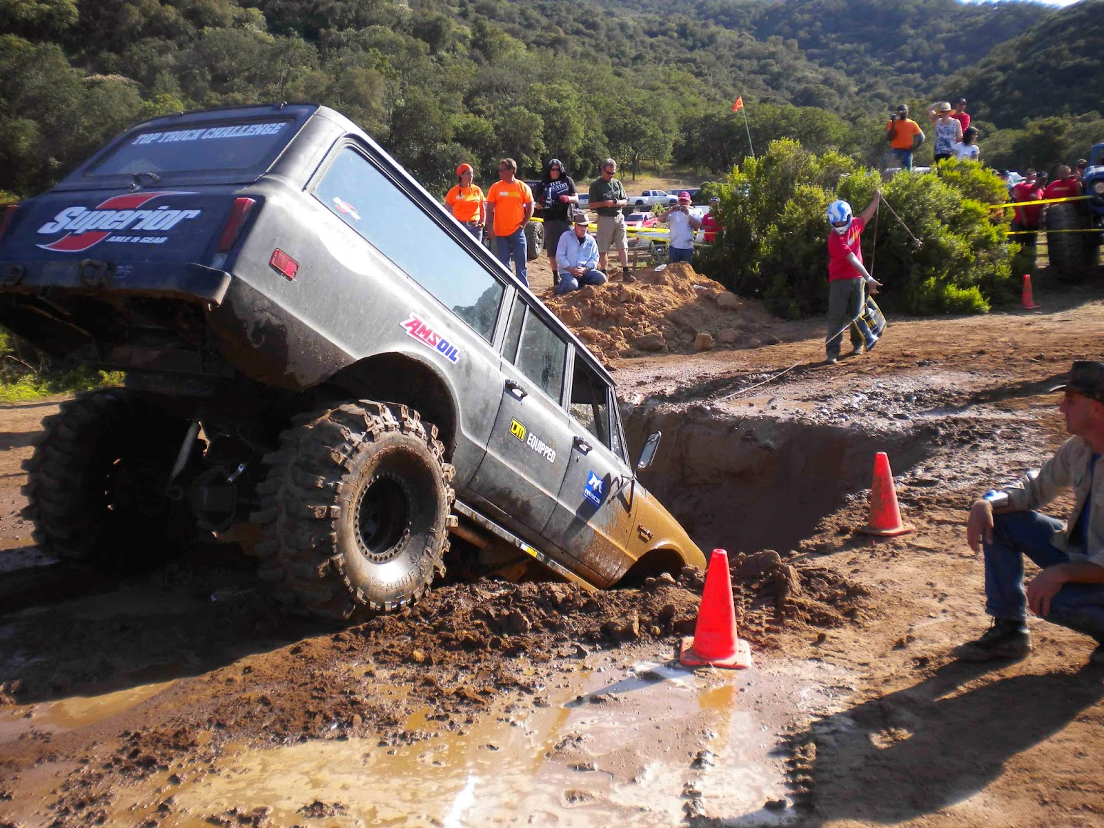 Sometimes the only way out is with a winch