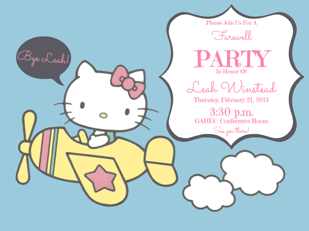Lovely Life of Leah: Leah's farewell party